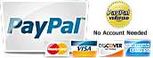 We accept PayPal payments and major credit and debit cards.
